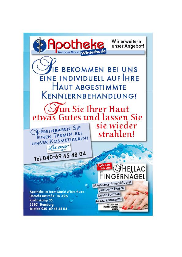"Flyer ""La Mer-Kosmetik"", Apotheke im toom-Markt Winterhude, Hamburg"
