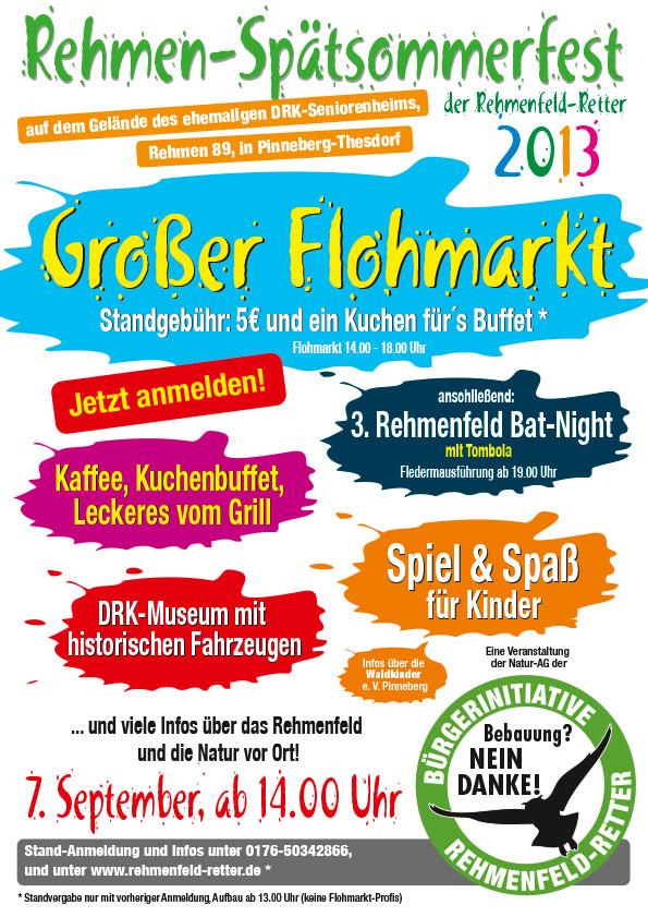"""Plakat """"Spätsommerfest"""", Bürgerinitiative Rehmenfeld-Retter, Pinneberg"""