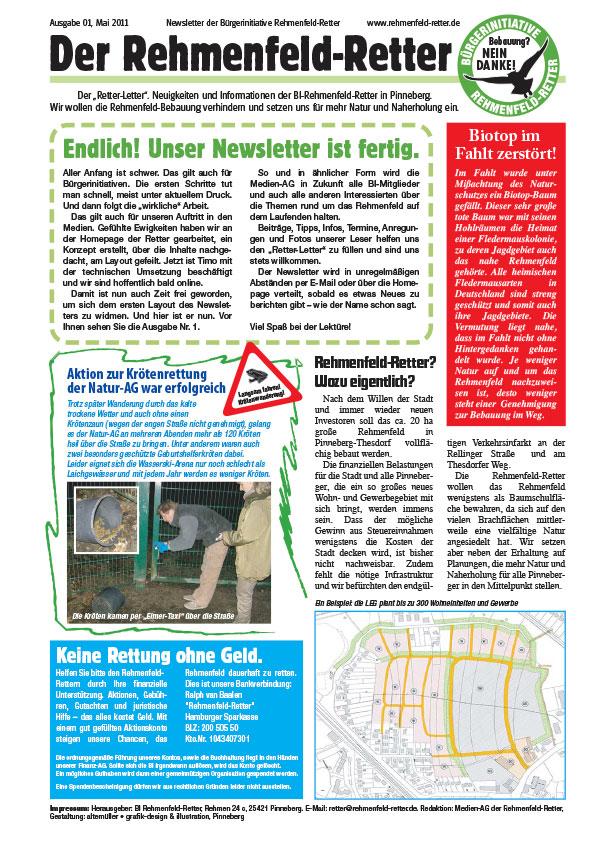 Website Bürgerinitiative Rehmenfeld-Retter