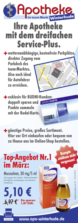 "Flyer ""Angebote"", Apotheke im toom-Markt Winterhude, Hamburg"