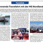 Artikel zur Travefahrt mit der MS-Nordland, Strandblick