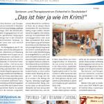 Artikel zur Krimi-Reihe im Senioren- und Therapiezentrum Eichenhof, Lübecker Stadtzeitung