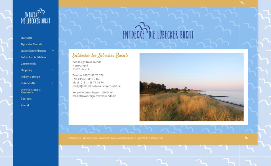 """Web-Magazin """"Entdecke die Lübecker Bucht"""""""