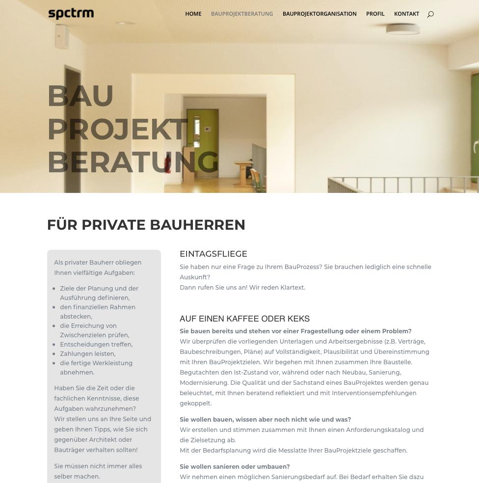 Website spctrm-architektur