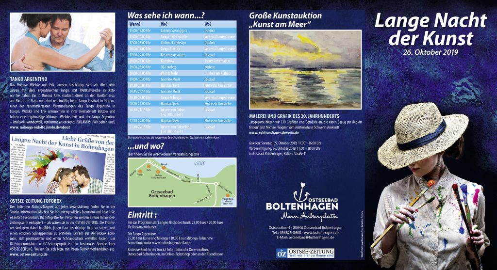 Flyer für die Kurverwaltung Ostseebad Boltenhagen